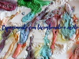 Ingredienti necessari Bicarbonato Aceto Acqua Coloranti